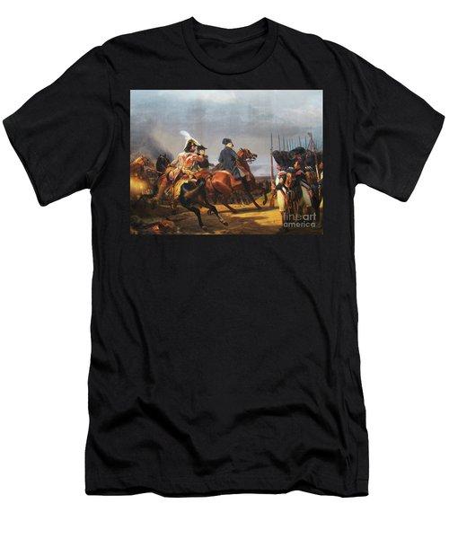 A Napoleonic War At Versailles Men's T-Shirt (Slim Fit) by Al Bourassa