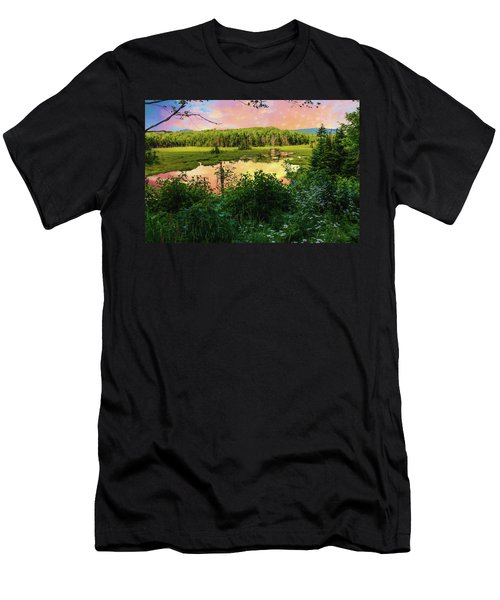 A New England Bog. Men's T-Shirt (Athletic Fit)