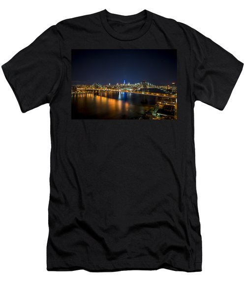 A New York City Night Men's T-Shirt (Athletic Fit)