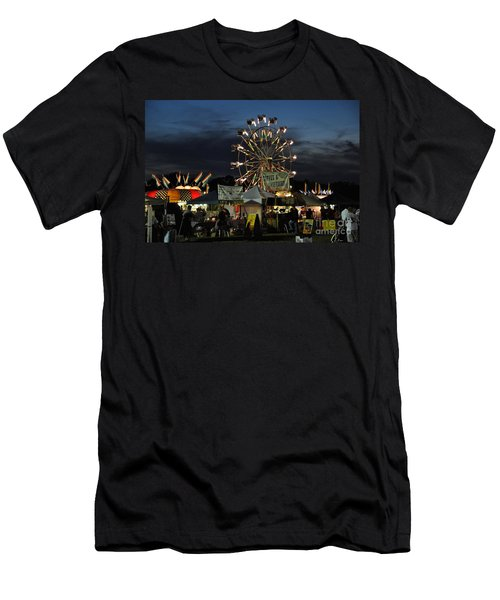 Men's T-Shirt (Slim Fit) featuring the photograph A Night At The Fair by John Black