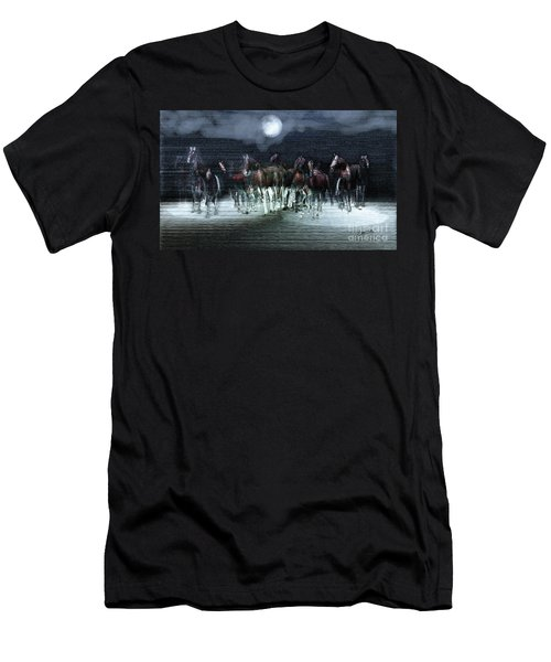 A Night Of Wild Horses Men's T-Shirt (Athletic Fit)