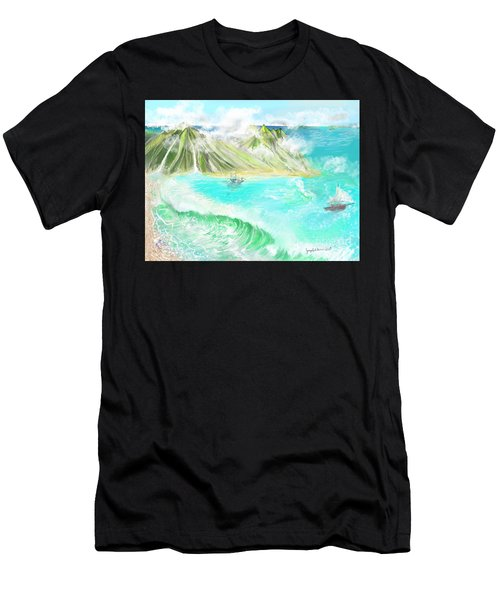 A Ocean Some Where Men's T-Shirt (Athletic Fit)