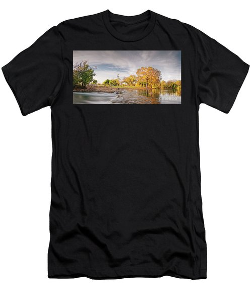 A Peaceful Fall Afternoon At Rio Vista Dam Park - San Marcos Hays County Texas Hill Country Men's T-Shirt (Athletic Fit)