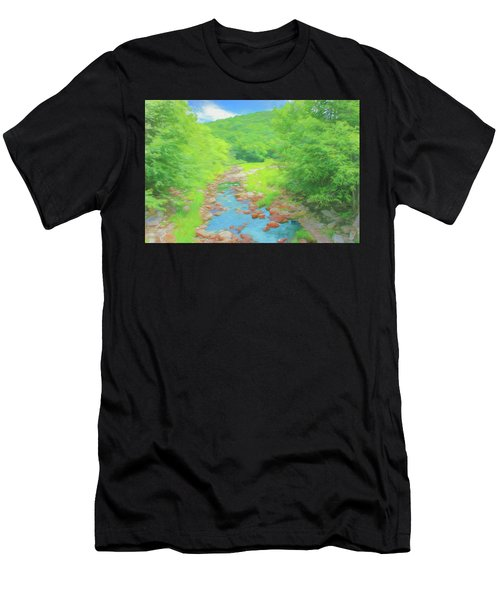 A Peaceful Summer Day In Southern Vermont. Men's T-Shirt (Athletic Fit)
