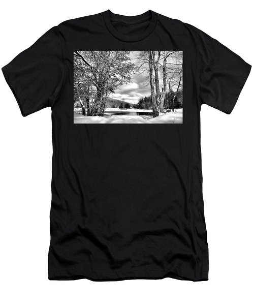 A Peek At Winter Men's T-Shirt (Athletic Fit)