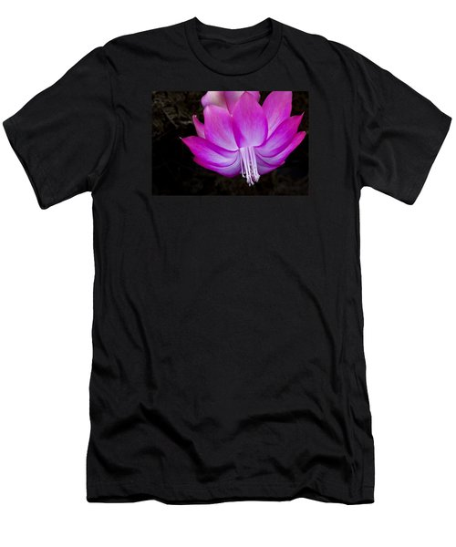 Men's T-Shirt (Athletic Fit) featuring the photograph A Pink Christmas Cactus by Ken Barrett