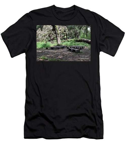 Men's T-Shirt (Slim Fit) featuring the photograph A Place To Rest by Carol  Bradley