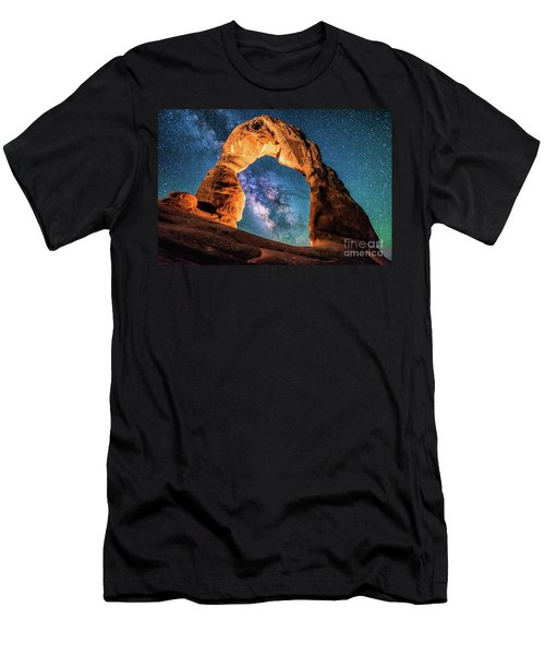 A Portal To The Milky Way At Delicate Arch Men's T-Shirt (Athletic Fit)