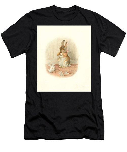 A Rabbit's Tea Party Men's T-Shirt (Athletic Fit)