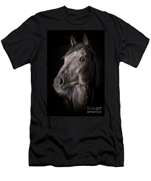 Men's T-Shirt (Athletic Fit) featuring the photograph A Race Horse Named River by Brad Allen Fine Art