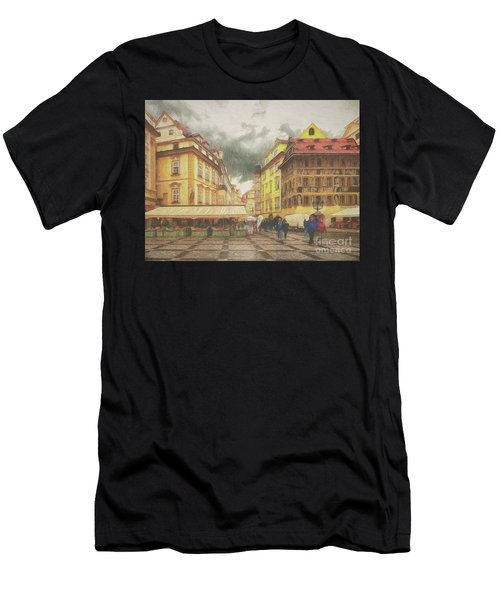 A Rainy Day In Prague Men's T-Shirt (Athletic Fit)