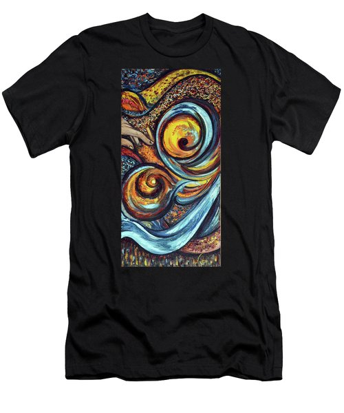 Men's T-Shirt (Slim Fit) featuring the painting A Ray Of Hope by Harsh Malik