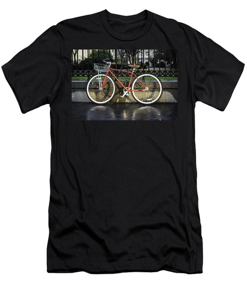 A Red Bicycle Near Jackson Square, New Orleans, Louisian Men's T-Shirt (Athletic Fit)