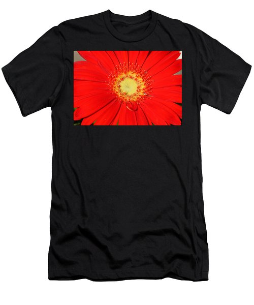 Men's T-Shirt (Athletic Fit) featuring the photograph A Red Explosion by Sheila Brown
