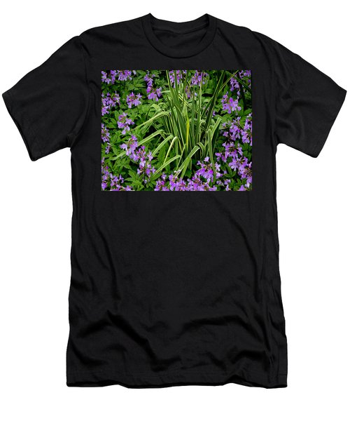 A Ring Of Purple Flowers Men's T-Shirt (Athletic Fit)