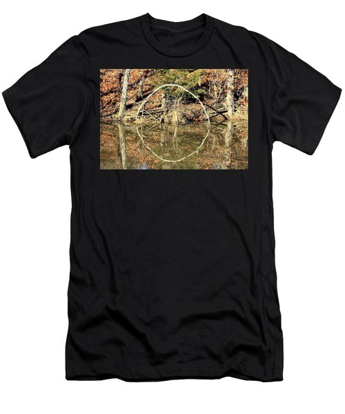 A Ring On The Pond In Fall Men's T-Shirt (Athletic Fit)
