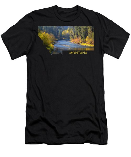 A River Runs Thru Autumn Men's T-Shirt (Athletic Fit)