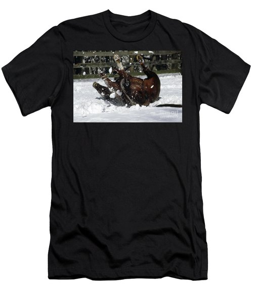 A Roll In The Snow Men's T-Shirt (Slim Fit) by Nicki McManus