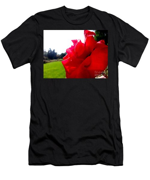 Men's T-Shirt (Athletic Fit) featuring the photograph A Rose In The Sun by Robert Knight