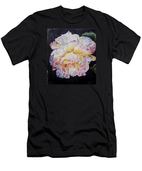 Men's T-Shirt (Slim Fit) featuring the painting A Rose by Teresa Beyer