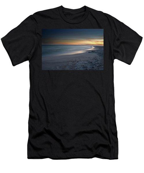 A Sandy Shoreline At Sunset Men's T-Shirt (Athletic Fit)