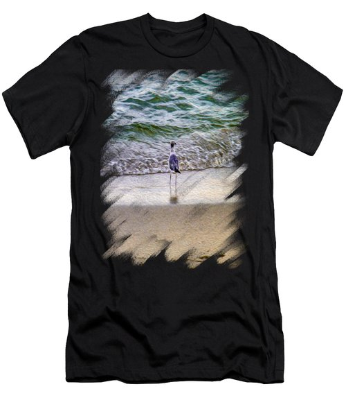 A Seagull Looking Out To Sea Men's T-Shirt (Athletic Fit)