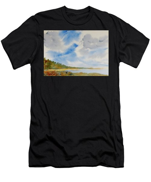 A Secluded Inlet Beneath Billowing Clouds Men's T-Shirt (Athletic Fit)