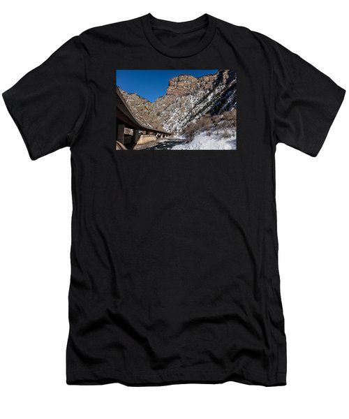 A Section Of The World-famous Glenwood Viaduct Men's T-Shirt (Slim Fit) by Carol M Highsmith