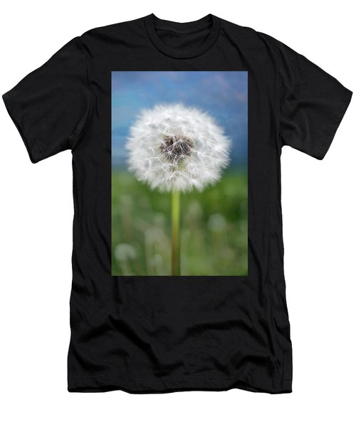 A Single Dandelion Seed Pod Men's T-Shirt (Athletic Fit)