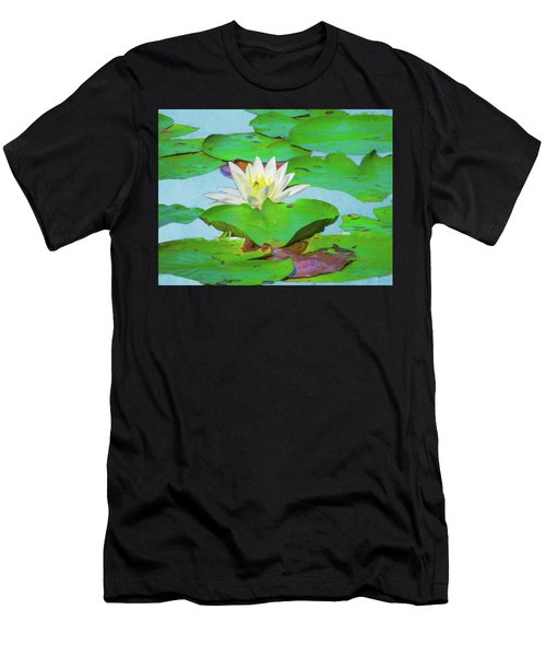 A Single Water Lily Blossom Men's T-Shirt (Athletic Fit)