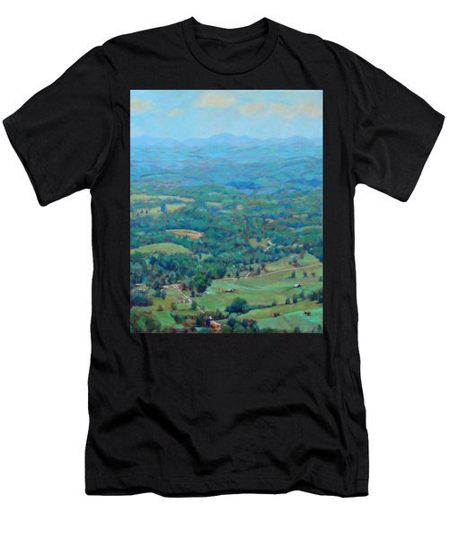 A Slow Summer's Day- View From Roanoke Mountain Men's T-Shirt (Athletic Fit)