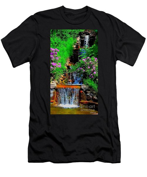 A Small Waterfall In Hbg Sweden Men's T-Shirt (Athletic Fit)