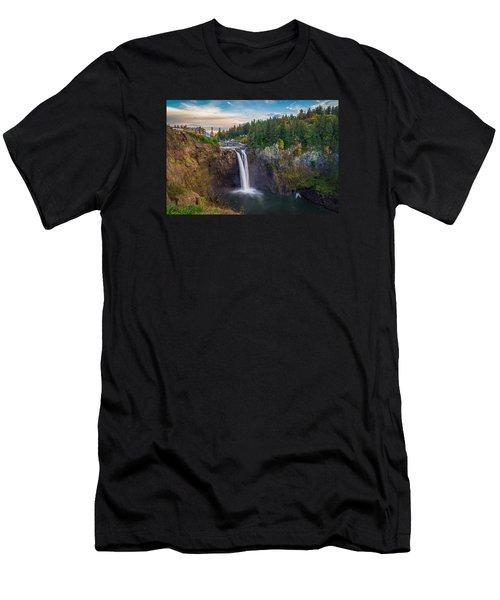 A Snoqualmie Falls  Autumn Men's T-Shirt (Athletic Fit)
