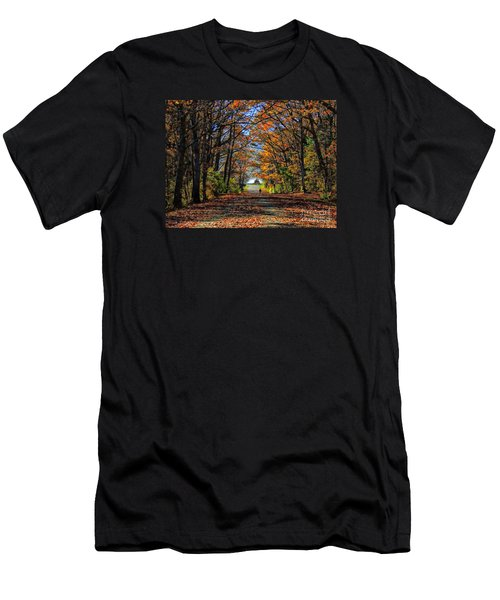 A Stroll Through Autumn Colors Men's T-Shirt (Athletic Fit)