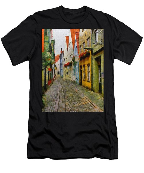 A Stroll Through The Street Men's T-Shirt (Athletic Fit)
