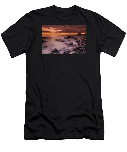 A Sunset At Track Beach Men's T-Shirt (Athletic Fit)