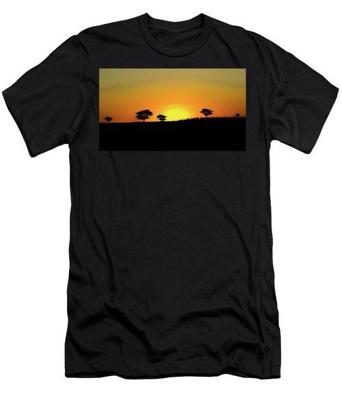 A Sunset In Namibia Men's T-Shirt (Slim Fit) by Ernie Echols