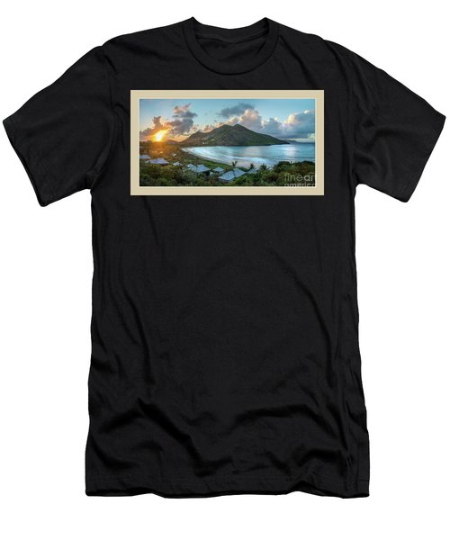 A Sunset On Bay Men's T-Shirt (Athletic Fit)