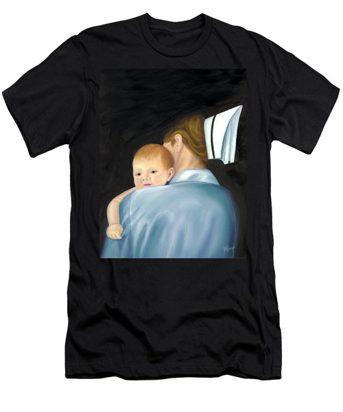 Men's T-Shirt (Slim Fit) featuring the painting Comforting A Tradition Of Nursing by Marlyn Boyd
