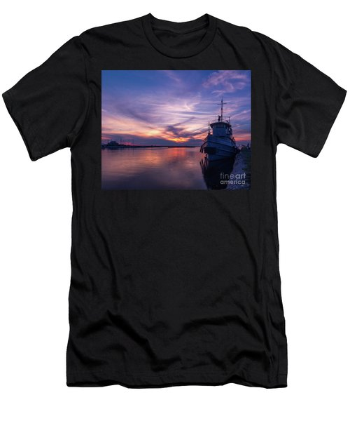 A Tugboat Sunset Men's T-Shirt (Athletic Fit)