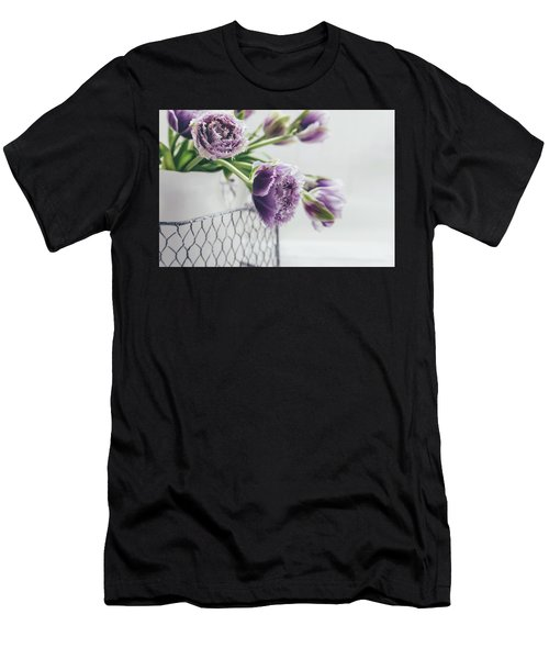 Men's T-Shirt (Athletic Fit) featuring the photograph A Tulip Moment by Kim Hojnacki