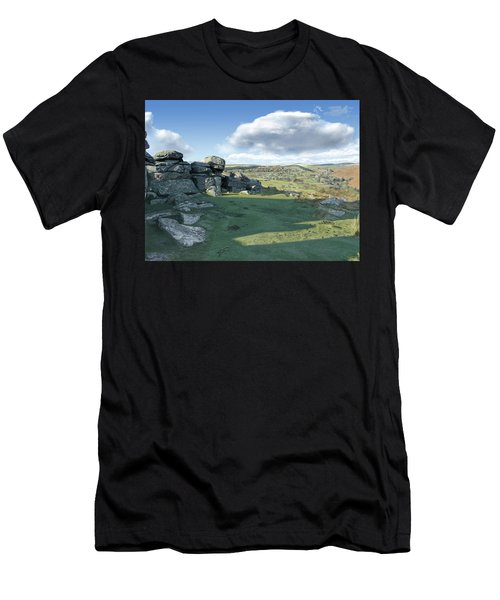 A View From Combestone Tor Men's T-Shirt (Athletic Fit)