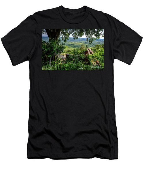 A View From Groznjan Of The Istrian Hill Town Countryside, Istria, Croatia Men's T-Shirt (Athletic Fit)
