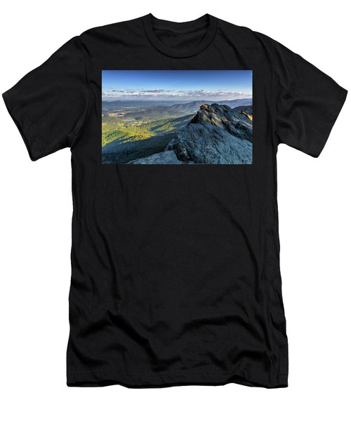 Men's T-Shirt (Athletic Fit) featuring the photograph A View From The Cliffs by Lori Coleman