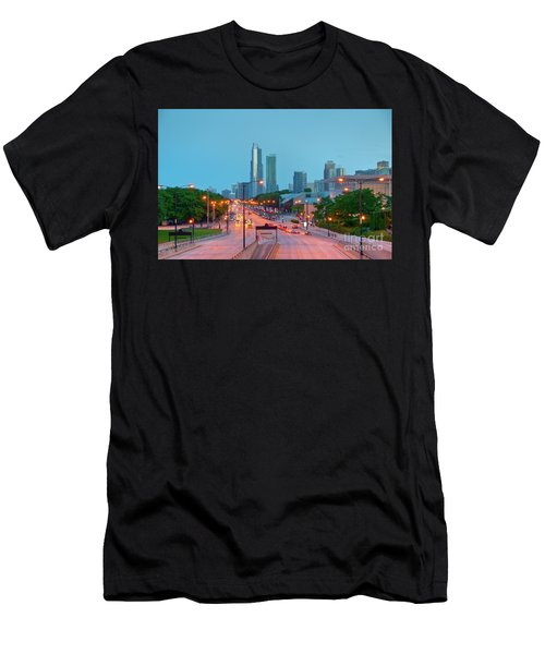 A View Of Columbus Drive In Chicago Men's T-Shirt (Athletic Fit)
