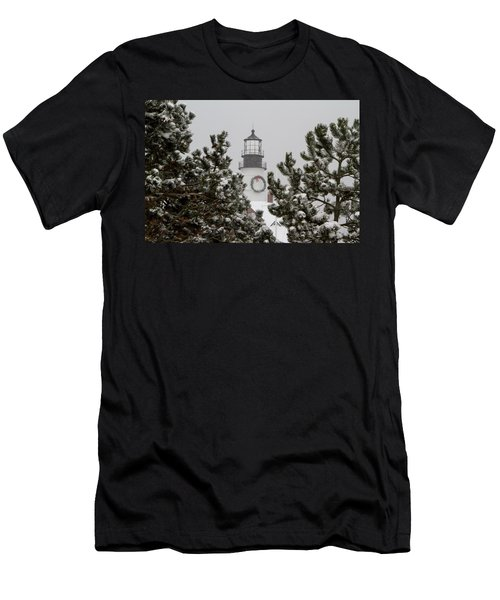 A View Of The Portland Head Light Men's T-Shirt (Athletic Fit)