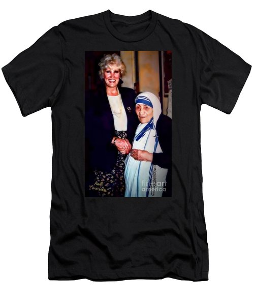 A Vist With Mother Teresa Men's T-Shirt (Athletic Fit)