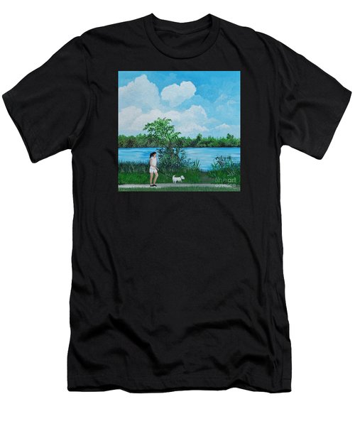 A Walk Along The River Men's T-Shirt (Athletic Fit)