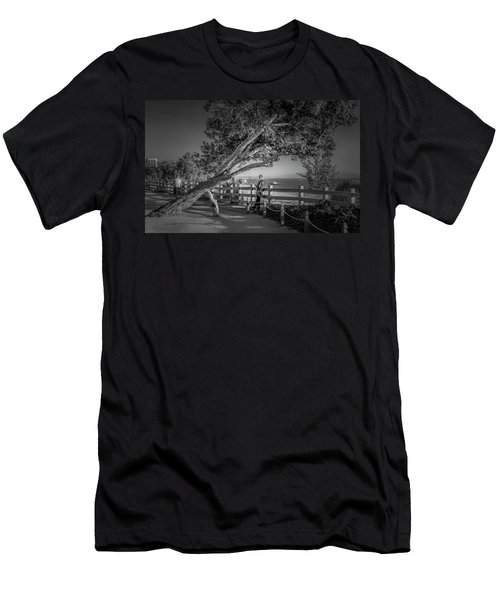 A Walk In The Park B And W Men's T-Shirt (Athletic Fit)