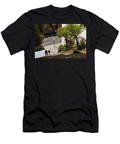 A Walk Up Joice St Steps Men's T-Shirt (Athletic Fit)